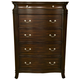 Alpine Furniture Windsor 5 Drawer Tall Boy Chest in Dark Cherry
