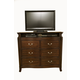 Alpine Furniture Windsor TV Chest in Dark Cherry
