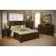 Alpine Furniture Windsor 4-Piece Panel Bedroom Set in Dark Cherry
