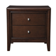 Alpine Furniture La Jolla 2 Drawer Nightstand in Espresso
