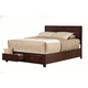 Alpine Furniture Carrington Queen Storage Panel Bed in Merlot
