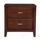 Alpine Furniture Carrington 2 Drawer Nightstand in Merlot