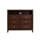 Alpine Furniture Carrington Media Chest in Merlot