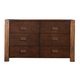 Alpine Furniture Element Six Drawer Dresser in Espresso ORI-213-03