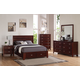 Alpine Furniture Carrington 4-Piece Storage Panel Bedroom Set in Merlot