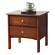Alpine Furniture Costa 2 Drawer Nightstand in Medium Cherry
