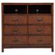 Alpine Furniture Loft TV Media Chest in Dark Walnut ORI-711-11