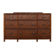Alpine Furniture Loft Nine Drawer Dresser in Dark Walnut ORI-711-03