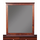 Alpine Furniture Costa Mirror in Medium Cherry