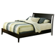 Alpine Furniture Vista Queen Low Footboard Sleigh Bed in Dark Espresso SV-01 Q