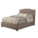 Alpine Furniture Amanda Full Upholstered Platform Bed in Haskett Jute 1084F