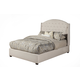 Alpine Furniture Ava Queen Upholstered Platform Bed in Diver Soap 1085Q