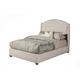 Alpine Furniture Ava King Upholstered Platform Bed in Diver Soap 1085EK