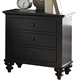 Liberty Furniture Hamilton III 3 Drawer Nightstand in Black 441-BR61