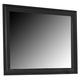 Liberty Furniture Hamilton III Landscape Mirror in Black 441-BR51