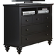 Liberty Furniture Hamilton III Media Chest in Black 441-BR45