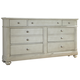 Liberty Furniture Harbor View III 7 Drawer Dresser in Dove Gray 731-BR31 CLEARANCE