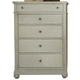 Liberty Furniture Harbor View III 5 Drawer Chest in Dove Gray 731-BR41 CLEARANCE