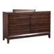 Aspenhome Walnut Park Six Drawer Dresser in Cinnamon Walnut I05-453