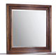 Aspenhome Walnut Park Square Mirror in Cinnamon Walnut I05-463