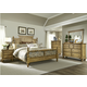 Liberty Furniture High Country 4-Piece Poster Bedroom Set in Honey Spice