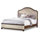 Hooker Furniture Leesburg Queen Upholstered Bed w/ Wood Rails in Mahogany 5381-90950