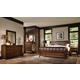 Aspenhome Walnut Park 4-Piece Panel Bedroom Set in Cinnamon Walnut