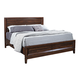 Aspenhome Walnut Park King Panel Storage Bed in Cinnamon Walnut