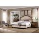 Hooker Furniture Leesburg 4-Piece Upholstered Bedroom Set in Mahogany