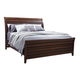 Aspenhome Walnut Park Queen Sleigh Bed in Cinnamon Walnut