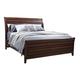 Aspenhome Walnut Park King Sleigh Bed in Cinnamon Walnut