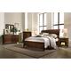 Aspenhome Walnut Park 4-Piece Sleigh Bedroom Set in Cinnamon Walnut