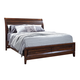 Aspenhome Walnut Park King Sleigh Storage Bed in Cinnamon Walnut