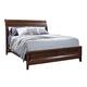 Aspenhome Walnut Park Queen Sleigh Storage Bed in Cinnamon Walnut