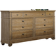 Liberty Furniture Harbor View 7 Drawer Dresser in Sand 531-BR31