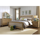 Liberty Furniture Harbor View 4-Piece Sleigh Bedroom Set in Sand