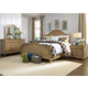 Liberty Furniture Harbor View 4-Piece Poster Bedroom Set in Sand