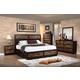 New Classic Makeeda 4-Piece Storage Bedroom Set in Rustic
