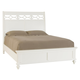 American Drew Lynn Haven King Sleigh Bed in Dover White 416-306R