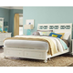 American Drew Lynn Haven Queen Sleigh Bed with Storage in Dover White 416-334R