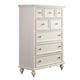 American Drew Lynn Haven 5 Drawer Chest in Dover White 416-215