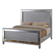 New Classic Valentino California King Panel Bed in Silver