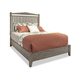 Durham Furniture Distillery King Slat Bed in Trenton Grey 401-142T