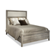 Durham Furniture Distillery King Upholstered Panel Bed in Trenton Grey 401-143T