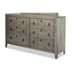 Durham Furniture Distillery Double Dresser in Trenton Grey 401-172T