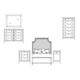 Durham Furniture Distillery 4-Piece Upholstered Bedroom Set in Whiskey