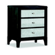Durham Furniture Front Street Nightstand with Mirror Fronts in Smoke 151-203M