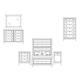 Durham Furniture Distillery 4-Piece Panel Bedroom Set in Trenton Grey