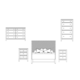 Durham Furniture Front Street 4-Piece Upholstered Bedroom Set in Smoke