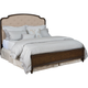 American Drew Grantham Hall King Panel Upholstered Bed in Cherry 512-316R